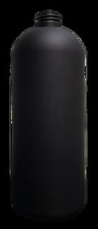 32 oz. Black Boston Round Bottle