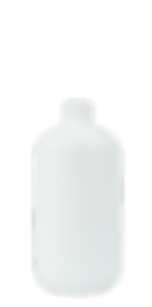 8.5 oz. White Boston Round Bottle