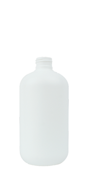 12 oz. White Boston Round Bottle