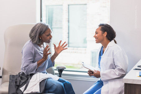 Attentive Doctor Listens to Patient
