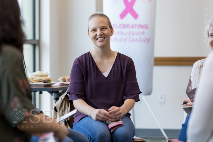 Breast Cancer Survivor Attends Support Group