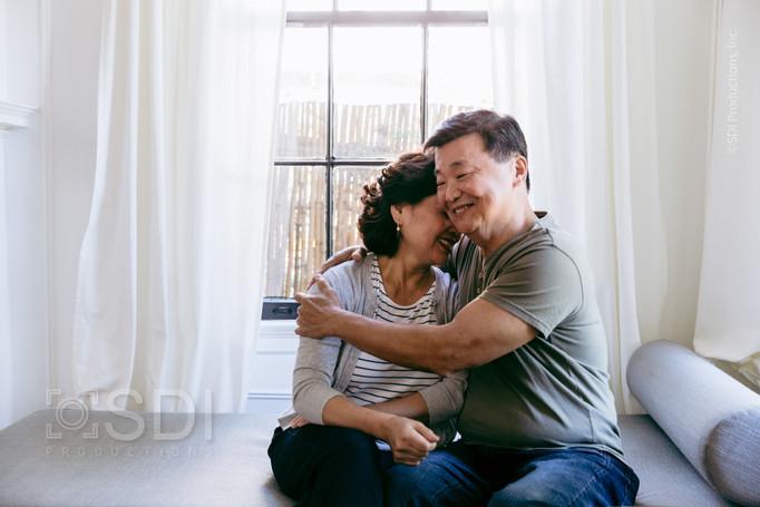 Husband Hugs Wife