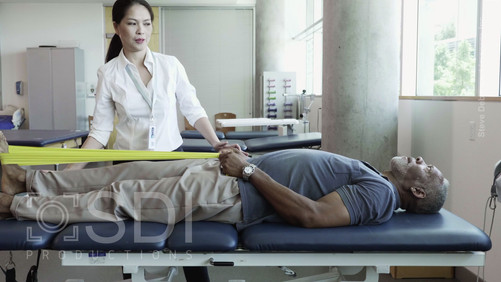 Senior Man During Physical Therapy Session