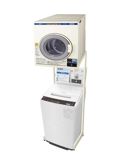 電気乾燥機「MCD-CK45」+ユニット「HDS601」+日立コイン式洗濯機「BW-FCV70」