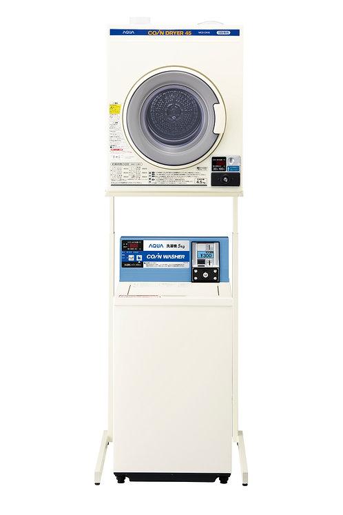 電気乾燥機「MCD-CK45」+ユニット「HDS601」+アクアコイン式洗濯機「MCW-C50A」