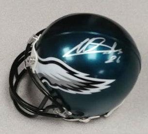 Miles Sanders Autographed Philadelphia Eagles Mini Helmet