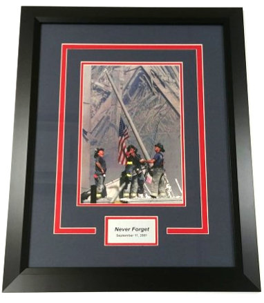 September 11th Commemorative Framed Photo Display