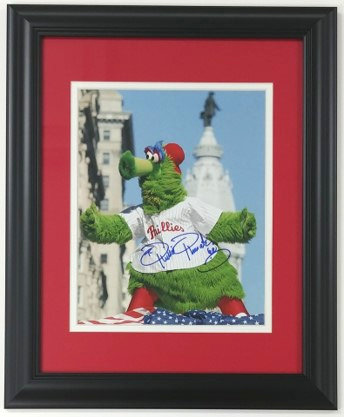 Phillie Phanatic Framed Autographed 8x10 Photo