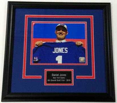 "Daniel Jones ""Draft Day"" 8x10 Framed Photo Display"