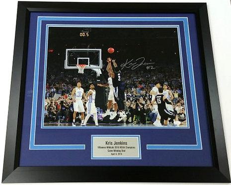 Kris Jenkins Framed Autographed 16x20 Photo Display
