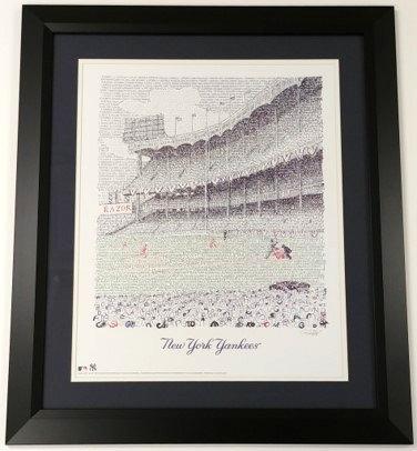 "Yankee Stadium Framed 16x20 ""WordArt"" Print"