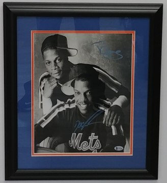 Doc Gooden & Darryl Strawberry Framed Dual Autographed 11x14 Photo