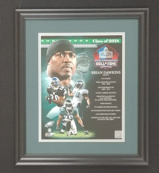 "Brian Dawkins ""Hall of Fame"" 11x14 Framed Photo"