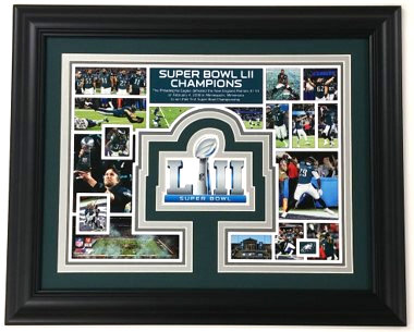 Philadelphia Eagles Framed 11x14 Super Bowl Collage