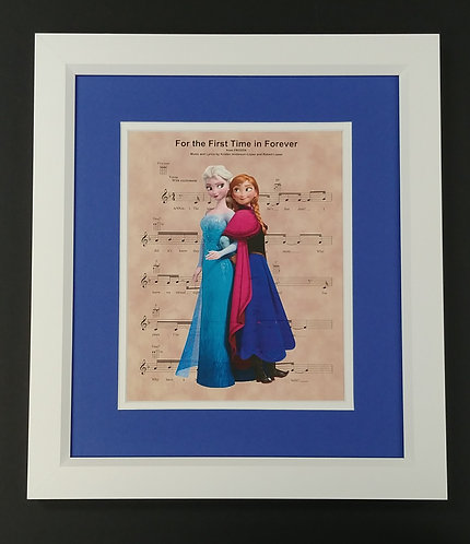 "Frozen ""For the First Time in Forever"" 8x10 Sheet Music Print"