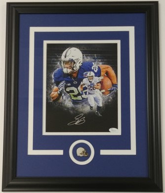 Saquon Barkley Autographed Penn State 8x10 Framed Photo
