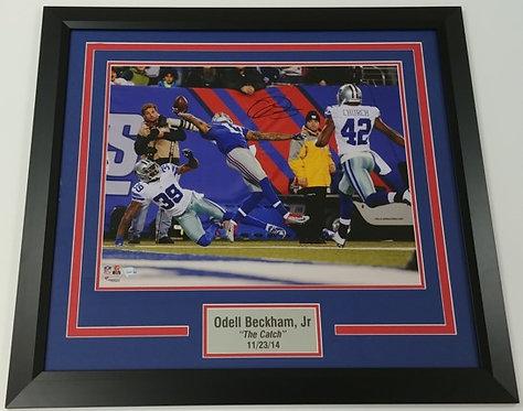 Odell Beckham, Jr Autographed Framed 16x20 Photo Display