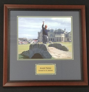 """Arnold Palmer """"Farewell to St. Andrews"""" 11x14 Framed Photo Display"""
