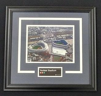 Yankee Stadium Subway Sign Framed Photo Display