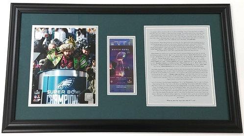 "Jason Kelce ""Super Bowl Speech""  8x10 Photo Display"