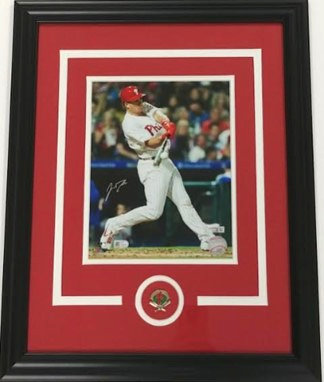 JT Realmuto Autographed 8x10 Framed Photo Display
