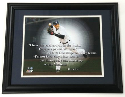 "Derek Jeter ""Pro Quote"" Framed Photo Display"