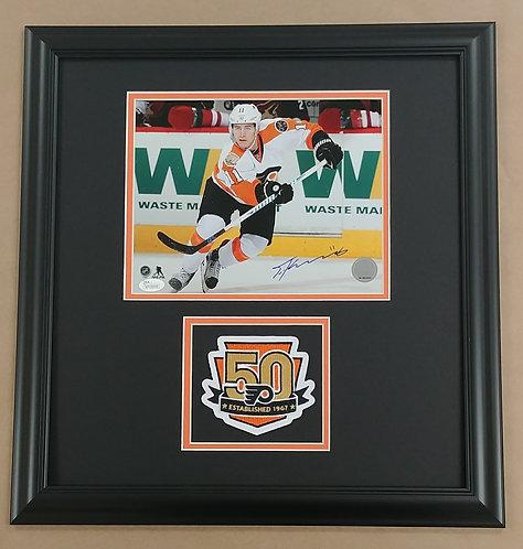 Travis Konecny Autographed 8x10 Framed Photo Display