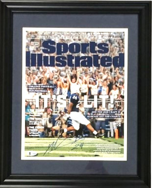 Miles Sanders Autographed Framed 11x14 Sports Illustrated Photo