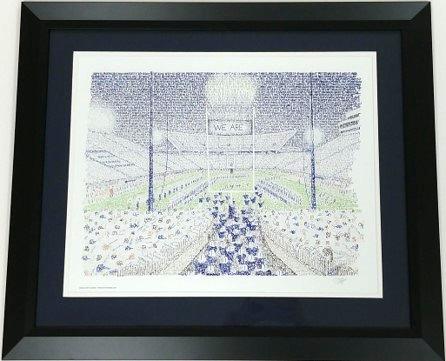 """Penn State Beaver Stadium Framed 16x20 """"WordArt"""" Print"""