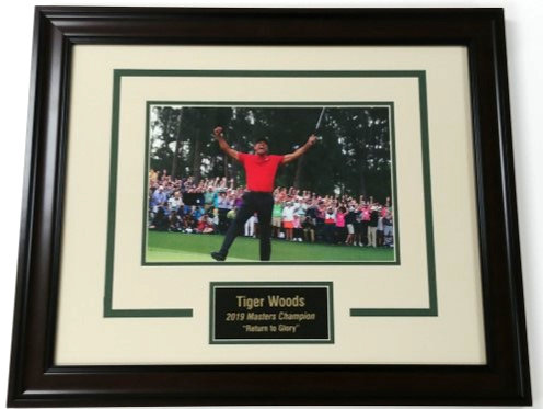 Tiger Woods 2019 Masters Champion Framed Photo Display