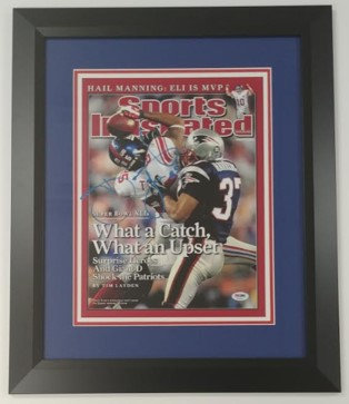 David Tyree Framed Autographed Sports Illustrated Cover