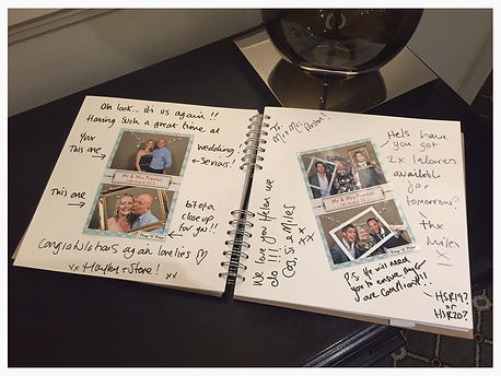 photo booth guest book, propaprint guestbook