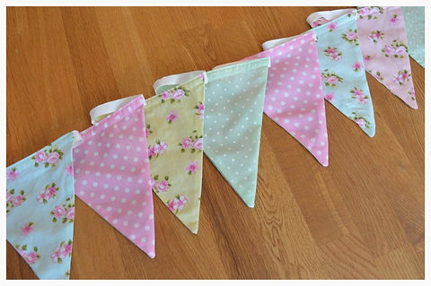 Polka Dots and Flowers Bunting