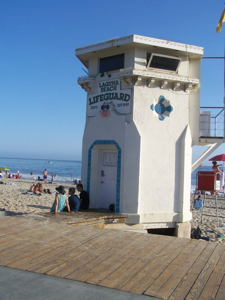 Lifeguard Tower at Laguna Beach
