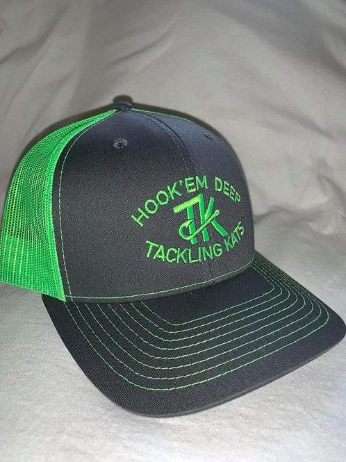TK Hat Snapback charcoal/neon green