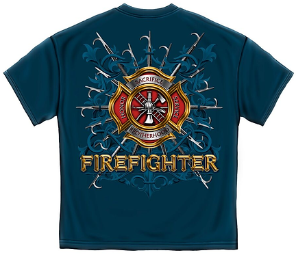 Firefighter Pikes Navy Blue T-Shirt