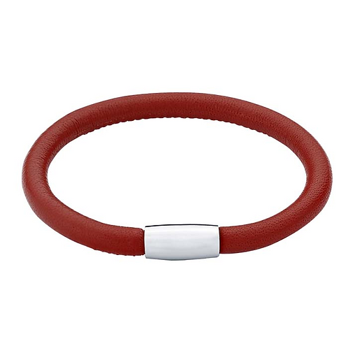 Nappa Leather Bracelet with Magnetic Clasp