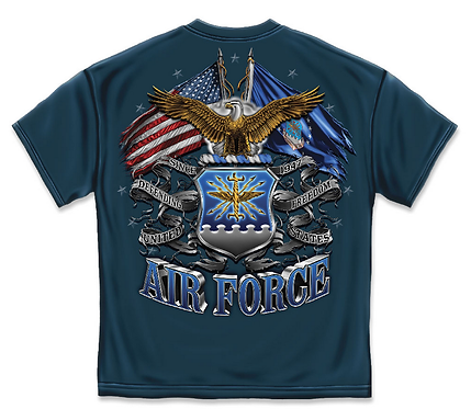 Air Force Double Flage Navy Blue T-Shirt