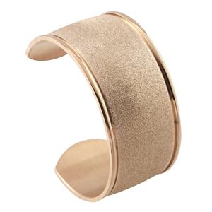 Stainless Steel Gold Stardust Cuff Bracelet