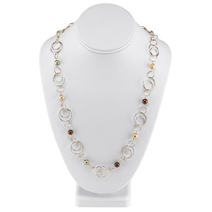 Sterling Silver Rose Gold-Plated & Pearl Necklace