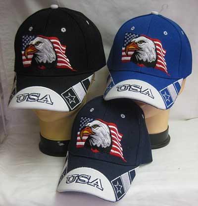 Patriotic Eagle and Flag Cap