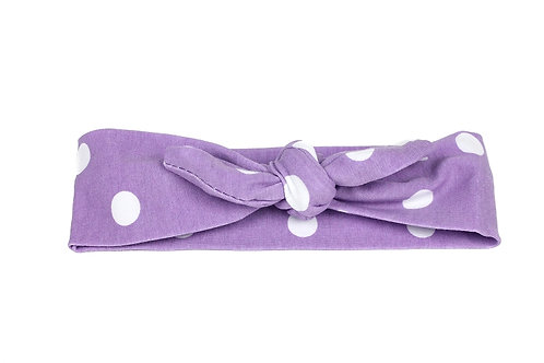 Polk Dot Knotted Headband - 5 Colors