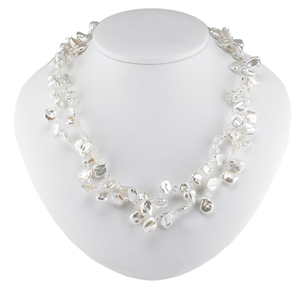 Double-Strand Freshwater Pearl and Bead Necklace