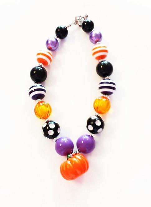 Purple Pumpkin Fall Necklace