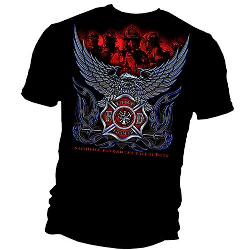 "Firefighter Eagle ""Sacrifice Beyond"" T-Shirt"