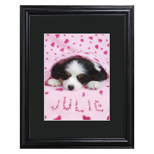 Personalized Cozy Puppy Precious Pet Print
