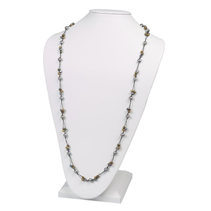 Tin-Cup Style Pearl Necklace
