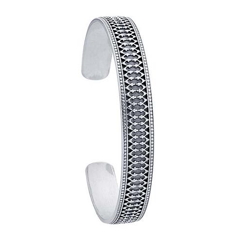 Sterling Silver Gallery Wire Cuff Bracelet