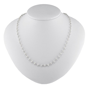 Sterling Silver Necklace w/White Freshwater Pearls