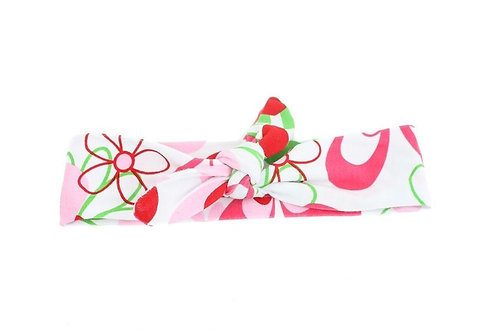 Watermelon Floral Knotted Headband